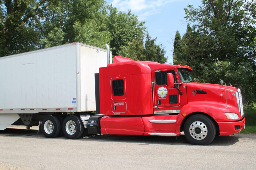 Red Best Cob semi truck