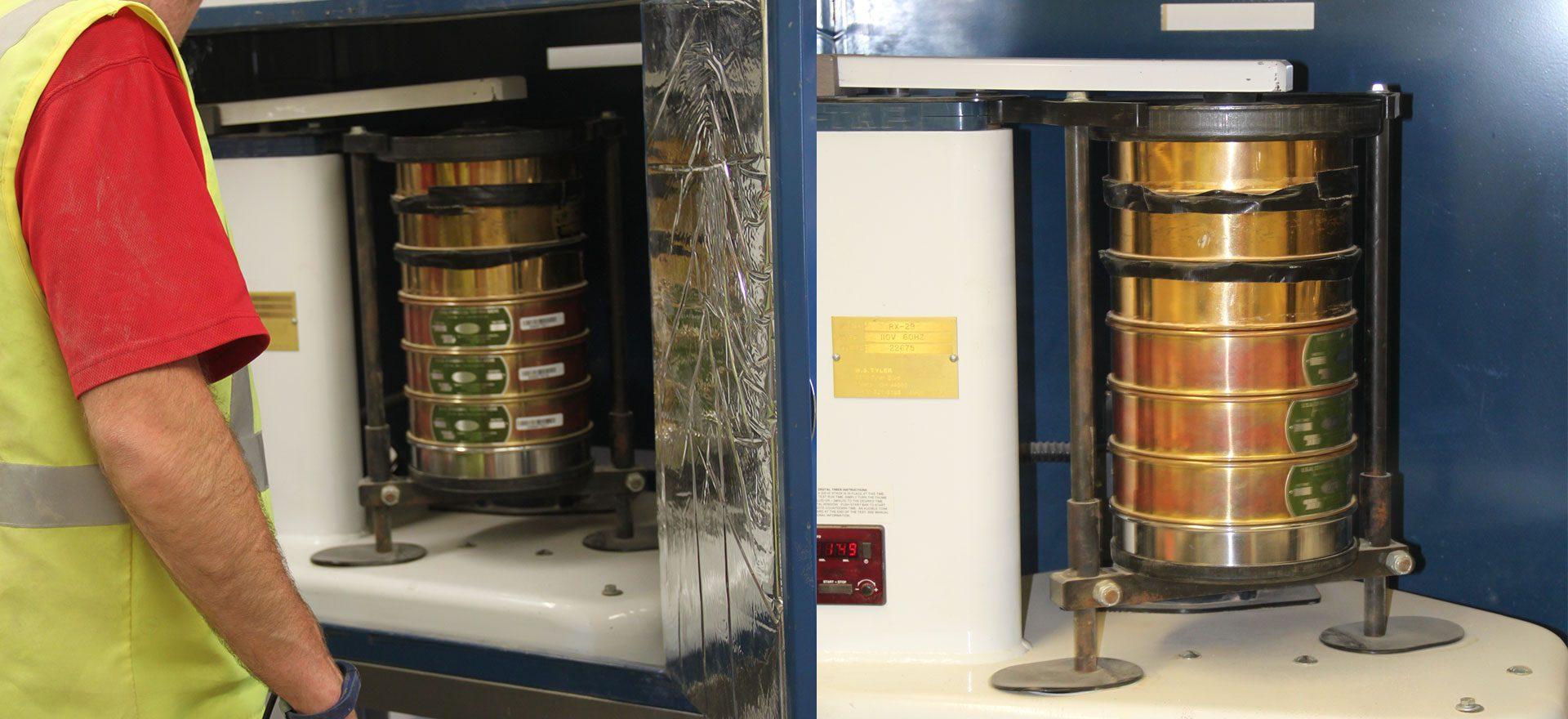 Sieve testing apparatus